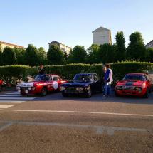 Le Fulvia schierate davanti alla palazzina Heritage HUB